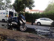 האופנוע שעלה באש