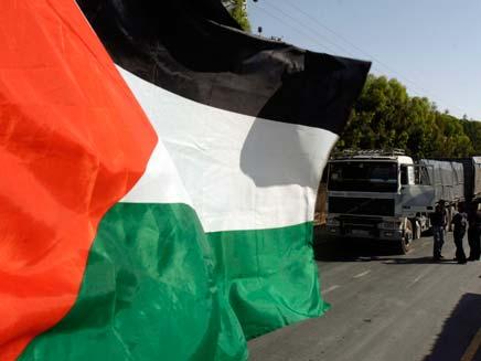 דגל ישראל הוסר - ובמקומו דגל פלסטין. ארכיון (צילום: רויטרס)