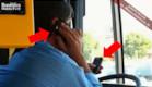 נהג איטלקי מדבר בשני סלולאריים בזמן נהיגה (צילום: צילום מסך)