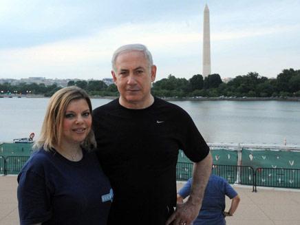 """בני הזוג נתניהו בטיול בוושינגטון (צילום: לע""""מ)"""