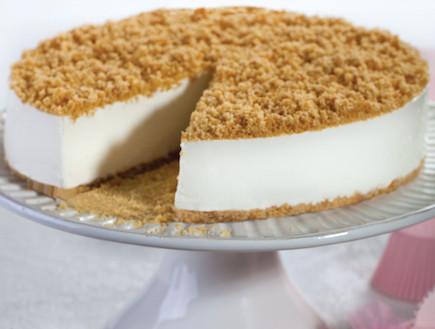 עוגת גבינה ופירורים ללא אפיה
