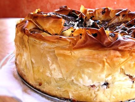 עוגת גבינה וחלבה - מוכנה (צילום: דליה מאיר ,קסמים מתוקים)