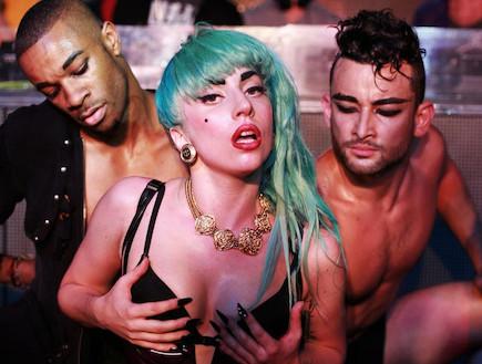 ליידי גאגא במועדון גייז (צילום: צילום מסך)