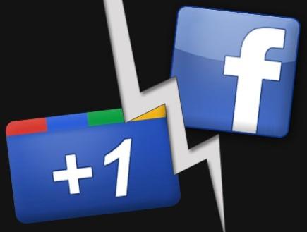 גוגל פלוס נגד פייסבוק (צילום: צילום מסך ,אילוסטרציה - ארכיון)