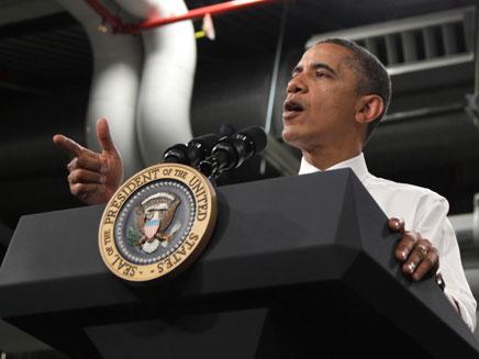 מאבטחים שובבים. הנשיא אובמה, ארכיון (צילום: AP)