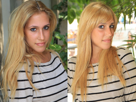 שינויים בשיער - שרונה (צילום: עודד קרני ,mako)