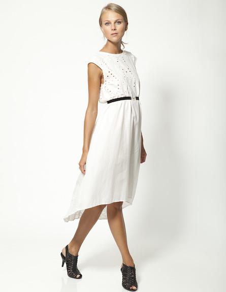 שמלת מידי לבנה (צילום: תום מרשק ,mako)