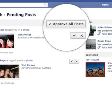 שינויים בפייסבוק (אישור תיוגים) (צילום: צילום מסך ,facebook)