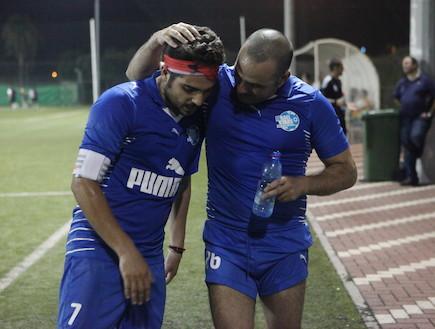 נבחרת האומנים מול נבחרת באג (צילום: ראובן שניידר ,mako)