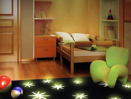 חדרי פנטזיה- שטיח זוהר בחושך לחדר ילדים מסדרת נייט פלאש במחיר 435