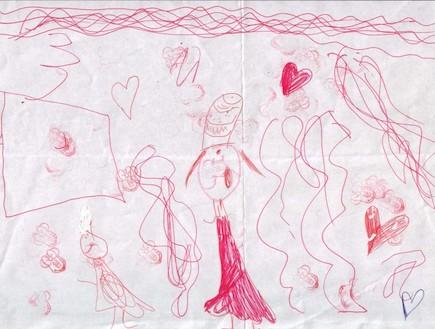 פענוח ציורי ילדים - קשיי קשב וריכוז ילדה לפני ריטל (צילום: תומר ושחר צלמים)