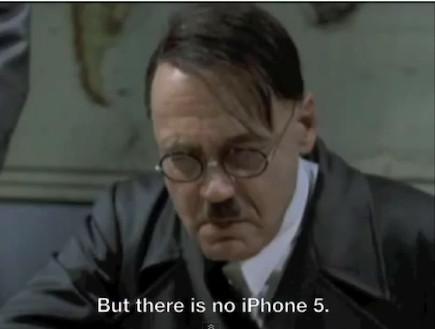 היטלר מתעצבן על אייפון 4S (צילום: צילום מסך)