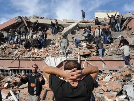 רעידת האדמה בטורקיה (צילום: AP)