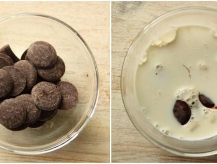 ריבועי גבינה וריבת חלב ממיסים גנאש