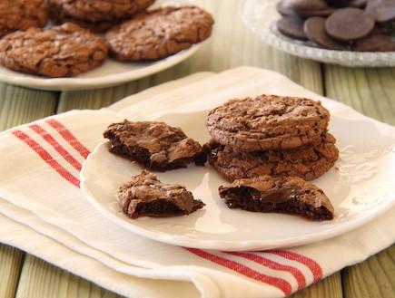 עוגיות שוקולד שוקולד צ'יפס 2 (צילום: חן שוקרון ,אוכל טוב)
