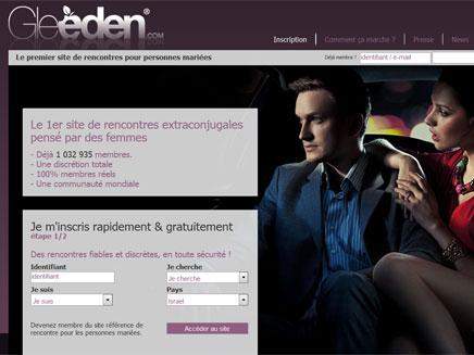 לנשואים בלבד. מתוך האתר (צילום: gleeden)