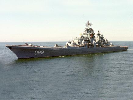 בדרך אלינו. ספינת הצי הרוסי (צילום: רויטרס)