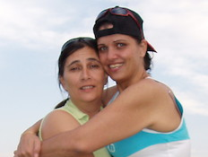 רחל אלגבסרי ופאבי (צילום: תומר ושחר צלמים)