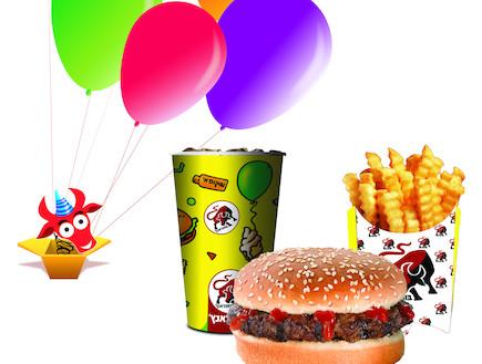 חוגגים יום הולדת בבורגר ראנץ' (צילום: לין ממרן ,יחסי ציבור)