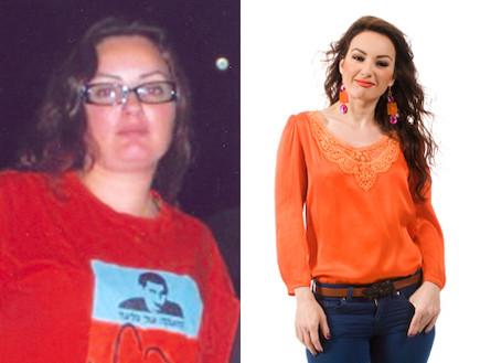 מיכל הרוש לפני ואחרי -שומרי משקל (צילום: יחסי ציבור)