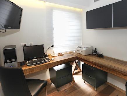 חדר עבודה אחרי שיפוץ2 - חלי ישראלי3 (צילום: אורן שלו)