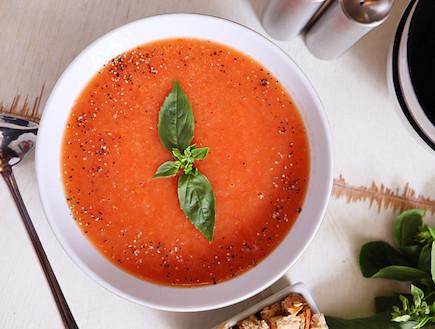 מרק עגבניות של טעימא (צילום: בני גם זו לטובה ,אוכל טוב)