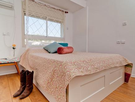 חדר שינה אחרי שיפוץ3 - תמר מגן צ'פלין (צילום: רון שלף)