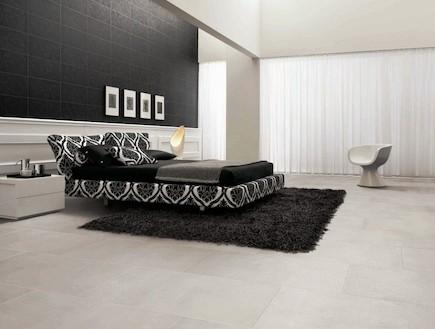 רשת חרש_חדר שינה בסגנון מודרני מחופה באריחים מקולקציה בעיצובם של ב