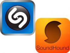 אפליקציות SoundHound ו-Shazam