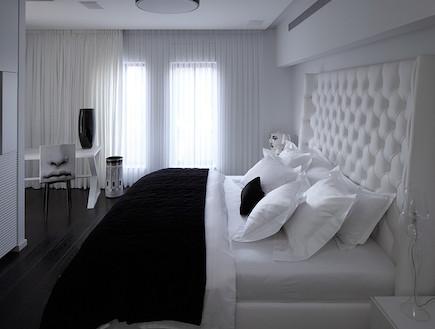 חדר שינה אחרי שיפוץ - סטפן מטי (צילום: עוזי פורת)