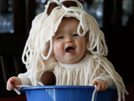 תינוק ספגטי - תינוקות מחופשים (צילום: צילום מסך מאתר pinterest)