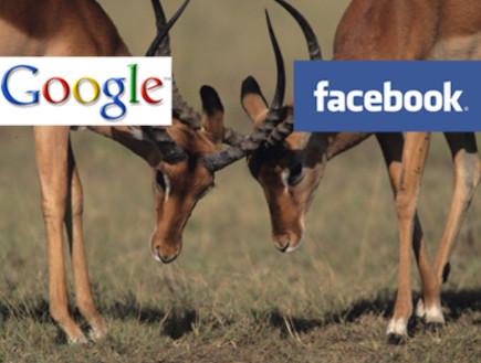 פייסבוק VS גוגל (צילום: אילוסטרציה)