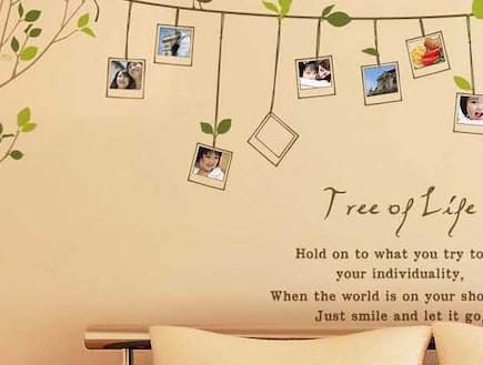 מדבקת קיר ענקית עם אפשרות לשילוב תמונות המשפחה -מתנות לחג (צילום: יחסי ציבור)