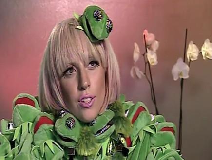 ליידי גאגא צפרדע (צילום: מתוך youtube)
