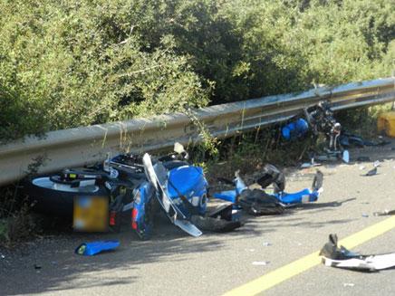 זירת התאונה בגליל, הבוקר (צילום: bokra.net)