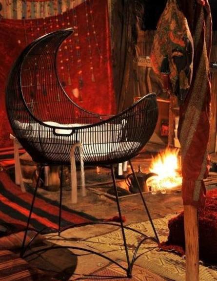 עיצוב אש, פינת ישיבה במאהל