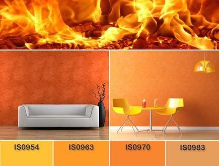 עיצוב אש, מניפת צבעים