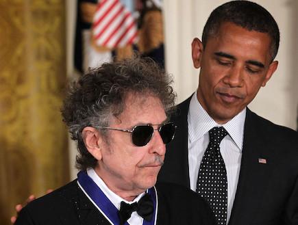 בוב דילן, ברק אובמה (צילום: Getty images ,getty images)