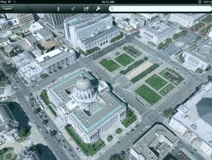 המפות החדשות של גוגל בתלת מימד (צילום: צילום מסך unicornbooty)