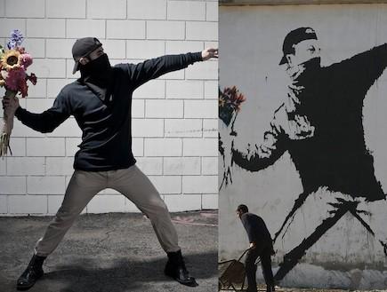 הצילומים של ניק שטרן לעומת הגרפיטי של בנסקי