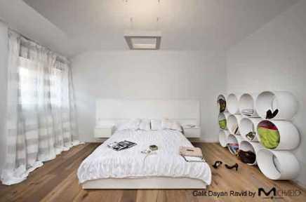 חדר שינה בלבן