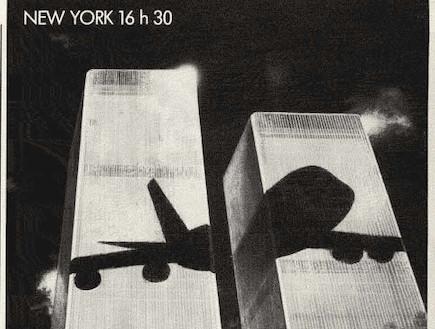 מטוס מול מגדלי התאומים בפרסומת משנת 1979