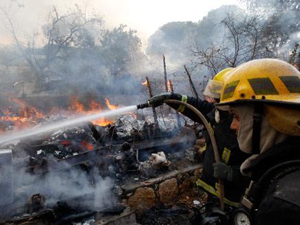 השריפה בעין הוד. ארכיון (צילום: רויטרס)