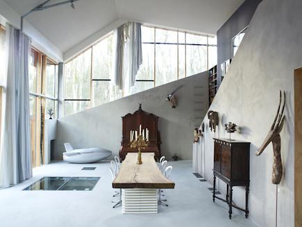 סלון (צילום: denieuwegeneratie architecten)