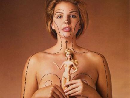 פרופורציות של ברבי על גוף של אישה אמיתית (צילום: צילום מסך)