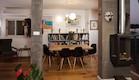 פינת אוכל עם כיסאות של צרלס אימס בעיצוב שרי בר-נע  (צילום: אייל גבעון)