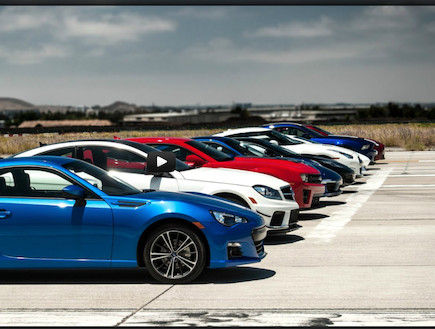 9 מכוניות במרוץ דראג (צילום: יוטיוב )