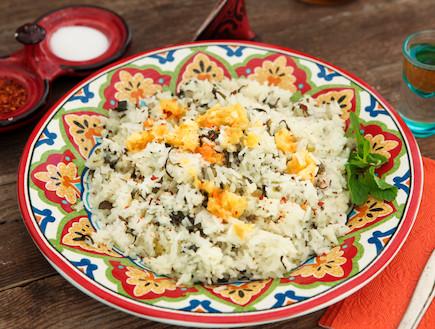 אורז חמוץ עם סלק ירוק (צילום: בני גם זו לטובה ,אוכל טוב)