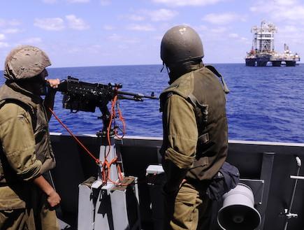 אסדות הגז בהגנת חיל הים