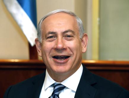 ביבי צוחק (צילום: getty images ,getty images)